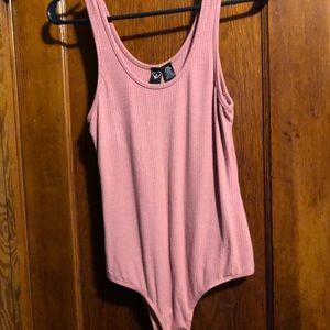 Pink/mauve body suit